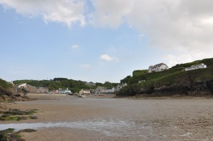 The beach at Little Haven – our home from home.