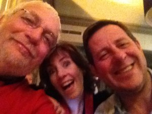 Selfie with Ali Sparkes – a rose between the two thistles!