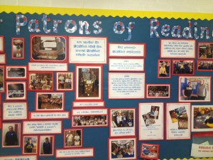 Cystennin's Patron of Reading noticeboard – that's us!