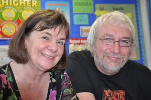 Steve B with Julia Donaldoson, author of The Gruffalo