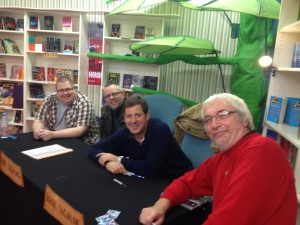 With fellow author's Tommy Donbavand and Alan Gibbons at the Bootle Literary Festival