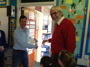Opening a brand new library at Hemlington Hall Primary, Middlesbrough
