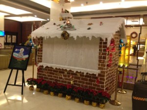 Gingerbread cottage in a hotel!